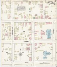 Burlington, VT Fire Insurance 1885 Sheet 6 - Old Town Map Reprint