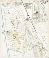 Burlington, VT Fire Insurance 1885 Sheet 8 - Old Town Map Reprint