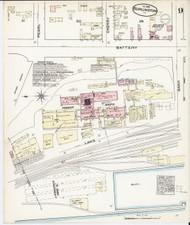 Burlington, VT Fire Insurance 1885 Sheet 9 - Old Town Map Reprint