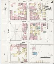 Burlington, VT Fire Insurance 1889 Sheet 4 - Old Town Map Reprint
