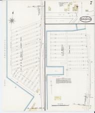 Burlington, VT Fire Insurance 1889 Sheet 7 - Old Town Map Reprint