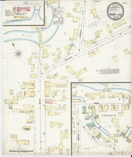 Derby Line, VT Fire Insurance 1897 Sheet 1 - Old Town Map Reprint