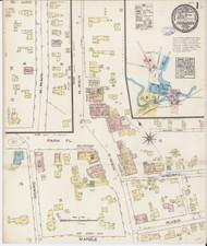 Fair Haven, VT Fire Insurance 1885 Sheet 1 - Old Town Map Reprint