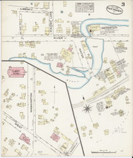 Fair Haven, VT Fire Insurance 1885 Sheet 3 - Old Town Map Reprint