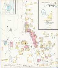 Fair Haven, VT Fire Insurance 1897 Sheet 4 - Old Town Map Reprint