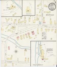 Ludlow, VT Fire Insurance 1894 Sheet 1 - Old Town Map Reprint