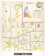 Lyndonville, VT Fire Insurance 1900 Sheet 1 - Old Town Map Reprint