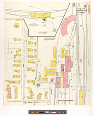 Lyndonville, VT Fire Insurance 1900 Sheet 3 - Old Town Map Reprint
