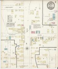 Manchester, VT Fire Insurance 1885 Sheet 1 - Old Town Map Reprint