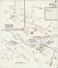 Manchester, VT Fire Insurance 1885 Sheet 2 - Old Town Map Reprint