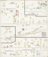 Manchester, VT Fire Insurance 1885 Sheet 3 - Old Town Map Reprint