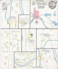 Manchester, VT Fire Insurance 1892 Sheet 1 - Old Town Map Reprint