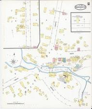 Manchester, VT Fire Insurance 1892 Sheet 2 - Old Town Map Reprint
