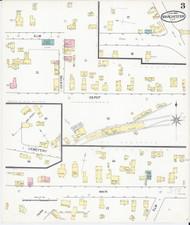 Manchester, VT Fire Insurance 1892 Sheet 3 - Old Town Map Reprint