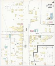 Manchester, VT Fire Insurance 1892 Sheet 4 - Old Town Map Reprint