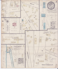 Middlebury, VT Fire Insurance 1885 Sheet 1 - Old Town Map Reprint