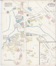 Middlebury, VT Fire Insurance 1885 Sheet 2 - Old Town Map Reprint