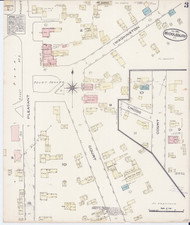 Middlebury, VT Fire Insurance 1885 Sheet 3 - Old Town Map Reprint