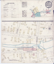 Montpelier, VT Fire Insurance 1884 Sheet 1 - Old Town Map Reprint