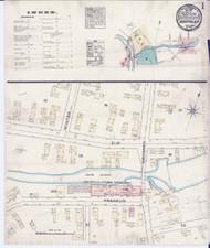 Montpelier, VT Fire Insurance 1884 Sheet 1 - Old Town Map Reprint