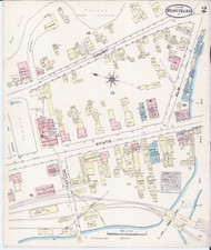 Montpelier, VT Fire Insurance 1884 Sheet 2 - Old Town Map Reprint