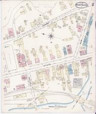 Montpelier, VT Fire Insurance 1884 Sheet 2 - Old Town Map Reprint