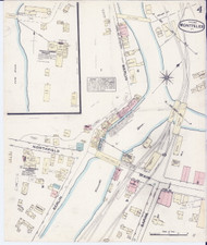 Montpelier, VT Fire Insurance 1884 Sheet 4 - Old Town Map Reprint