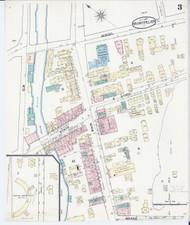 Montpelier, VT Fire Insurance 1889 Sheet 3 - Old Town Map Reprint