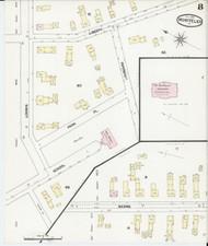 Montpelier, VT Fire Insurance 1889 Sheet 8 - Old Town Map Reprint