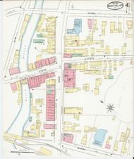 Montpelier, VT Fire Insurance 1894 Sheet 4 - Old Town Map Reprint