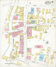 Montpelier, VT Fire Insurance 1899 Sheet 4 - Old Town Map Reprint