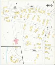 Montpelier, VT Fire Insurance 1899 Sheet 7 - Old Town Map Reprint