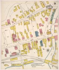 Montpelier, VT Fire Insurance 1905 Sheet 3 - Old Town Map Reprint
