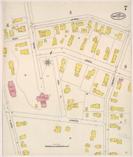 Montpelier, VT Fire Insurance 1905 Sheet 7 - Old Town Map Reprint