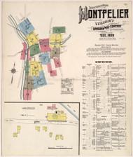Montpelier, VT Fire Insurance 1909 Sheet 1 - Old Town Map Reprint