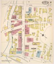 Montpelier, VT Fire Insurance 1909 Sheet 4 - Old Town Map Reprint