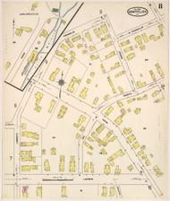 Montpelier, VT Fire Insurance 1909 Sheet 8 - Old Town Map Reprint