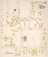 Montpelier, VT Fire Insurance 1909 Sheet 13 - Old Town Map Reprint
