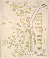 Montpelier, VT Fire Insurance 1915 Sheet 4 - Old Town Map Reprint