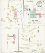 Poultney, VT Fire Insurance 1897 Sheet 1 - Old Town Map Reprint