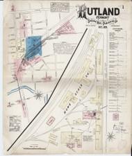 Rutland, VT Fire Insurance 1879 Sheet 1 - Old Town Map Reprint