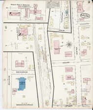 Rutland, VT Fire Insurance 1879 Sheet 2 - Old Town Map Reprint