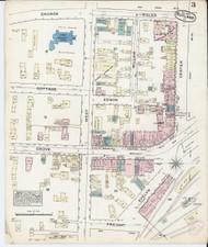 Rutland, VT Fire Insurance 1879 Sheet 3 - Old Town Map Reprint