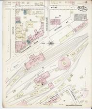 Rutland, VT Fire Insurance 1879 Sheet 4 - Old Town Map Reprint