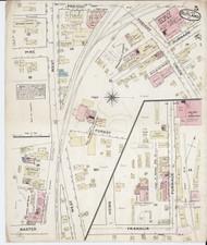 Rutland, VT Fire Insurance 1879 Sheet 5 - Old Town Map Reprint