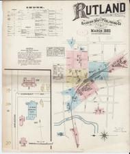 Rutland, VT Fire Insurance 1885 Sheet 1 - Old Town Map Reprint
