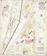 Rutland, VT Fire Insurance 1885 Sheet 2 - Old Town Map Reprint