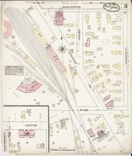 Rutland, VT Fire Insurance 1885 Sheet 3 - Old Town Map Reprint