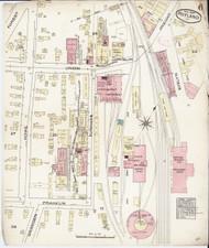 Rutland, VT Fire Insurance 1885 Sheet 6 - Old Town Map Reprint