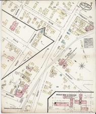 Rutland, VT Fire Insurance 1885 Sheet 7 - Old Town Map Reprint